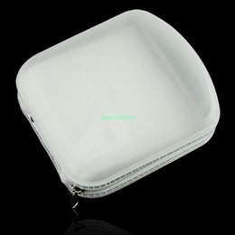 Wholesale EG5424 PORTABLE PLASTIC DISC DISK DVD CD VCD CDR STORAGE HOLDER WALLET CASE WHITE