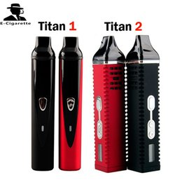 Wholesale Titan Dry Herb Vaporizer Titan2 Hebe Titan Herbal Vape herbal Vaporizers Titan1 With LCD Display Of Tempreture And Hebe mah Battery
