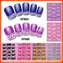 Gel french manicure with stickers