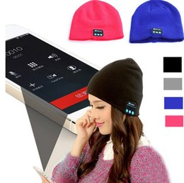 Wholesale With Retail BOX High Quality Christmas Gift Colorful Bluetooth Music Soft Warm Hat With Stereo Headset Speaker Wireless Hands free Cap