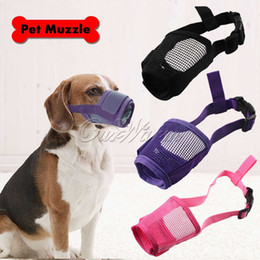 Wholesale Adjustable Pet Dog Mask Bark Bite Mesh Mouth Muzzle Grooming Anti Stop Chewing Mouth Safety Size S M L
