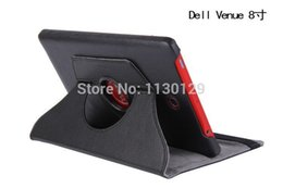 "Wholesale-Rotation 360 Degree Rotating Leather Tablet Case Stand Folio Protective Cover For dell Venue 8 Android 8"" Tablet Free"