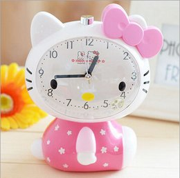 Wholesale Hello kitty new voice alarm Clock with a night lamp High quality talking alarm clock hot selling