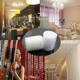 Wholesale 30M FT roll Dia mm Acrylic Disk Beaded Clear Imitate Crystal For Garland Strands Wedding Decoration Chandelier LJP