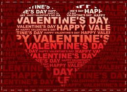 Wholesale over Happy Valentine s Day amp Heart Shape Text Magnetic Postcards Souvenir Custom Design Accept