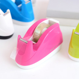 Wholesale Pieces Candy Color Cute Effective Tape Dispenser For Effective Width mm Adhesive Tape Cutter Office Tape Machine ABS g
