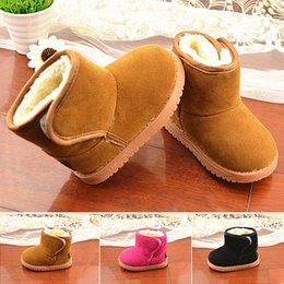 Wholesale Fashion Baby Lovely Winter Cute Infant Toddler Boy Girl Soft Non slip Sole Fur Shoes Snow Warm Boots Prewalker Accessories