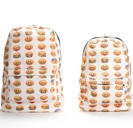 New Emoji Backpack Canvas 3D Emoji Printing backpacks Cute Men's backpacks Original Design Women Backpack Freeship