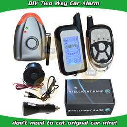 El sistema de alarma de dos vías del coche del cardot DIY está con la alarma de choque y la alarma de la presión de aire, la sirena sin hilos de la alarma, el telecontrol del LCD es con la alarma ligera y de sonidos desde sistema de alarma a distancia un coche fabricantes