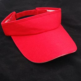 Wholesale-Good deal Red Casual Fashion Sun Visor Sports Golf Tennis Headband Cap Hat Adjustable