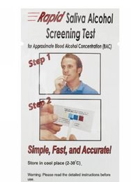Wholesale by DHL Mini Rapid Alcohol Testing Strip Disposable Alcohol Tester Saliva Alcohol Tester