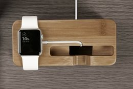 Wholesale Bamboo phone Charging Stand holders Wood Phone and Watch Holder in For iPhone and For Apple Watch iwatch New Arrival