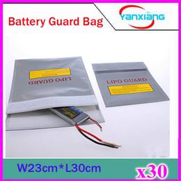 Sacs ignifuges à vendre-30pcs RC Fireproof Lipo Li-Po batterie de sécurité garde charge sac coffre-fort (23cm x 30cm) Argent ZY-BAJ-01