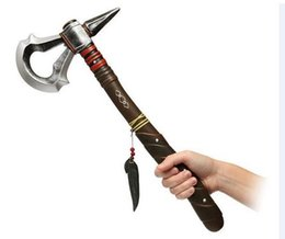 Wholesale Assassin s Creed axe Connor Kenway DELUXE PU axe Tomahawk Hatchet Cosplay Prop Costume Accessory same day assassins creed axe