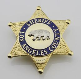 Wholesale Losangeles County Bureau of Changzhi LA County Sheriff Security Officer Badge bear badge badge