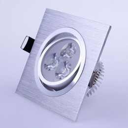 Ultra Bright Cree Led Ceiling Light Square 3w 6w Led Recessed Down Lamp Spotlight AC85-265V CE RoHS Cold Warm White