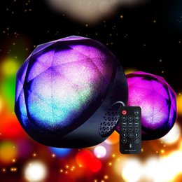 Wholesale Mini Magic Color Ball wireless Bluetooth Portable Ball Speaker with remote control home LED Flash Light Best for Christmas Xmas