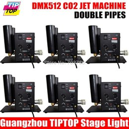 Wholesale Double Pipe CO2 Jet Machine DMX Channels Stage Equipment V V High Pressure Meter Gose Quick Connect Fitting