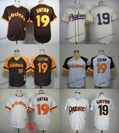 Wholesale mlb san diego padres tony gwynn Cheap Wholesales Baseball Jersey Embroidery Name and Logo EME DHL