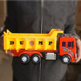 Wholesale Large engineering WARRIOR inertia car toy mixer truck dump car refrigerated mining
