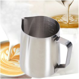 Wholesale Stainless Steel Milk Frother Pitcher Milk Foam Container Measuring Cups Coffe Appliance ml H15954