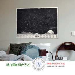 Wholesale 2015 New Arrival Luckies Star Map Wallpaper Starry Fluorescence Wallpaper Home Decoration Best Creative Gift Map Play Z00681
