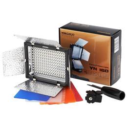 YONGNUO Marque YN-160 YN160 Lampe de lumière vidéo LED pour Canon Nikon Sony DV Caméra reflex SLR 650D 5D Mark II 6D 7D 60D 600D 550D à partir de conduit vidéo d'éclairage fournisseurs