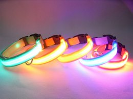 Wholesale A variety of color optional Safety Adjustable Electric LED Light up Pet cat Dog Collar Leads harness Training Dog Leash Flashing Glow In Da
