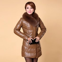 Leather feather leather sheepskin leather jacket lady Slim Long oversized fur collar leather jacket