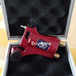 Wholesale Professional Tattoo Machine Gun Electric Aircraft Alloy tatoo rotary well Balanced liner shader red with box power supply
