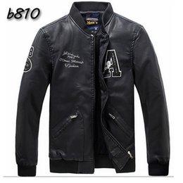 2017 revestimento da motocicleta longas de couro 2015 casacos de couro Chegada Nova Men Jacket Moda Slim Fit PU jaqueta masculina manga comprida Motorcycle Jacket Plus Size L-3XL FG1511 revestimento da motocicleta longas de couro à venda