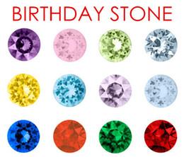 (120PCS,240PCS,480PCS) lot 12 Colors Round 5mm Crystal Birthday Stones Floating Charms Fit Living Locket