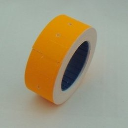 Wholesale Promotion Orange Rolls A Barrel Price Tag Paper Price Label Refill Adhesive for MX Price Tag Gun Lableller