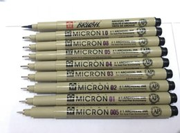 Wholesale 9pcs Sakura Pigma Micron Neelde Soft Brush Drawing Pen Brush Manga anime comic Pen Art Supplies