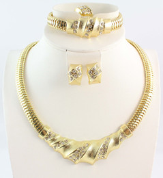 Hot selling african costume jewelry set Fashion Jewelry For Women Gold Plated African Costume Jewelry Sets