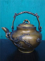 Wholesale Brass Plum pattern copper teapot small jug ornaments antique to do the old bronze