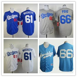 Wholesale Baseball Jerseys Men DODGERS BECKETT BLUE White Grey stitched Athletic jersey Mix Order High Quality