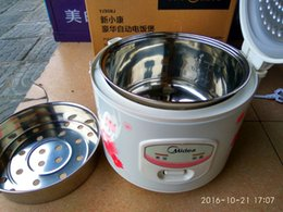 3L Midea electric rice cookers YJ308J stainless steel non-stick inner pot Food Heating DIY cake leben cookwere +Conversion Plug(gift)