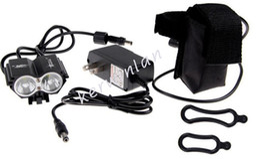 Solarstorm Bike Light Headlamp 2*CREE XML LED Bicycle Headlight Outdoor FlashLights +8.4v 4*18650 battery pack + charger