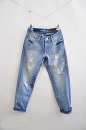boyfriend hole large size nine points jeans 2014 brand new fashion women's denim pants ripped jeans free shipping,size 26-34