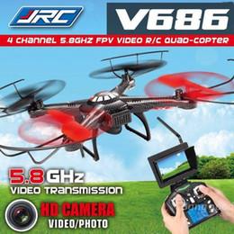 Promotion vidéo rc Mode Headless Jjrc V686g WLtoys DV686 V686 5.8GHZ FPV Quadcopter 2.4G 4CH RC professionnelle Drone Hélicoptère avec caméra HD Voler