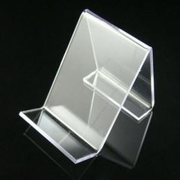 Livraison gratuite 50pcs lot acrylique cellulaire téléphone mobile stand stand support étagère nouvelle arrivée à partir de détenteurs de téléphones mobiles acryliques fabricateur