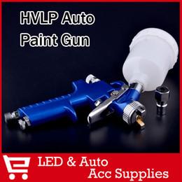 Wholesale H2000 Mini HVLP Traditional Auto spray gun with mm nozzle Automotive Shop Paint Gun tool Navy Blue Air Brush Alloy A3