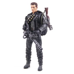 Wholesale Classic Movie Arnold Schwarzenegger Doll NECA The Terminator T800 Cyberdyne Showdown Model Action Figure Toy cm PVC