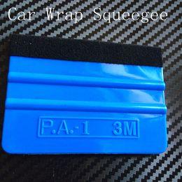Wholesale Pro M Squeegee Felt Squeegee Vehicle Window Vinyl Film Car Wrap Applicator Tool Scraper DHL Free Shiping