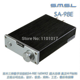 Wholesale SMSL SA E TDA7498E W Amplifier Ultimate version Big Power HIFI EXQUIS Digital AMP with original high power adapter
