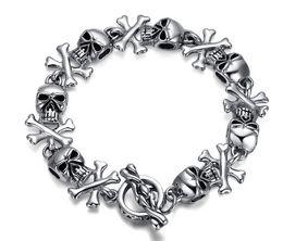 Titanium steel skull bracelet forward fashion and personality Titanium steel bracelet ghost High-end jewelry