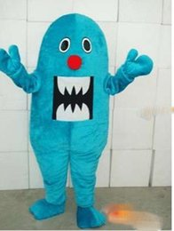 Customized Mr Mascot Costume Adult size+LOGO,free shipping
