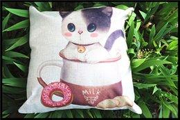 Wholesale free shopping Cotton Linen decorative throw pillow Cover Ikea Decorative Throw Pillow Home Chair Pillow Case