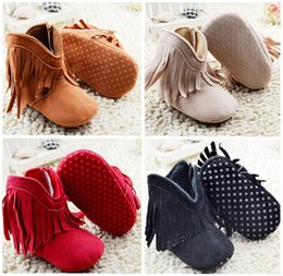 Wholesale Tassel baby soft bottom toddler boots new months girl casual boots candy kids fashion shoes Chinese shoes in stock pair B3